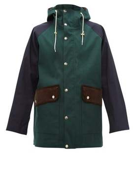 Corduroy Panelled Bonded Cotton Parka by Mackintosh