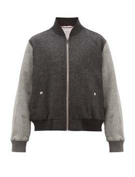 Zip Through Wool Bomber Jacket by Thom Browne