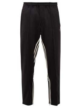 Cropped Inverse Stripe Jersey Track Pants by Y 3