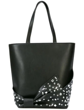 Embellished Bow Shopper Tote by Christian Siriano