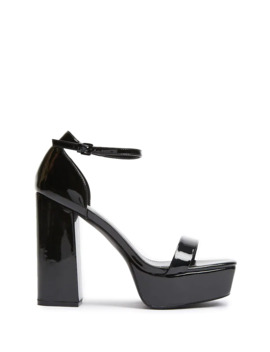 Square Block High Heel Sandals by Forever 21