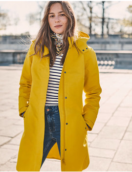 Suki Waterproof Coat   Saffron by Boden