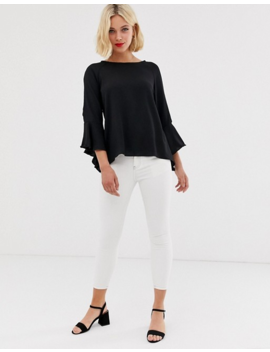 Brave Soul Madrid Top With Sleeve Detail by Top