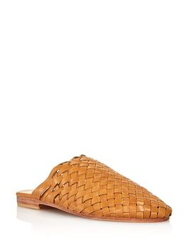 Women's Bunto Woven Leather Mules by St. Agni