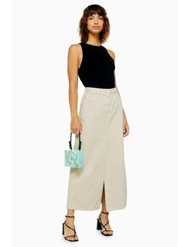 **Stone Denim Maxi Skirt By Boutique by Topshop