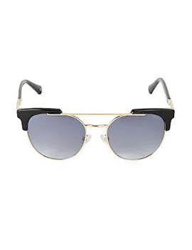 53 Mm Stylized Aviator Sunglasses by Balmain