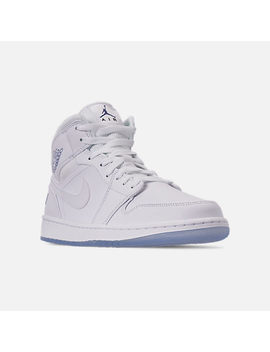 Men's Air Jordan 1 Mid Premium Basketball Shoes by Nike