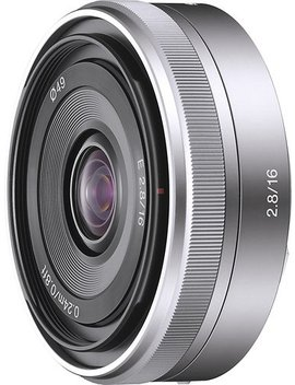 16mm F/2.8 E Mount Wide Angle Lens   Silver by Sony