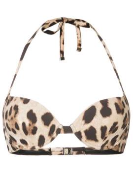 Leopard Print Bikini Top by Dolce & Gabbana