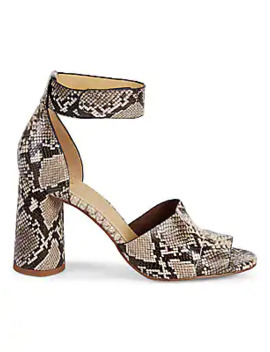 Thandie Embossed Leather Ankle Strap Sandals by Splendid