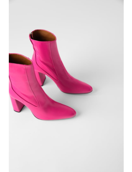 leather-high-heel-ankle-boots-with-fitted-leg--new-inwoman by zara