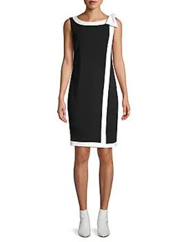 Contrasting Shift Dress by Karl Lagerfeld Paris