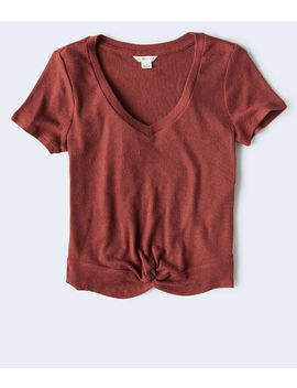 Ribbed Twist Front Top*** by Aeropostale