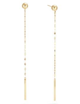 Lumen Bead Linear Earrings by Lana Jewelry