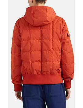 Down Quilted Half Zip Hooded Puffer Jacket by AimÉ Leon Dore