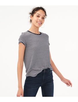 Seriously Soft Striped Tee by Aeropostale