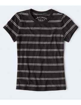 '90s Slim Kate Striped Crew Tee by Aeropostale