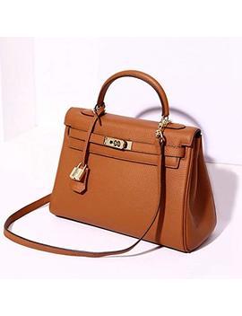 Padlock Handbags For Women Top Handle Shoulder Bags Clearance Togo Leather Designer Handbags by Coyoubo