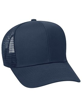 Otto Cotton Blend Twill 6 Panel Pro Style Mesh Back Trucker Hat by Otto