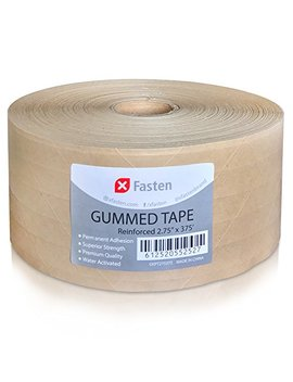 X Fasten Reinforced Gummed Kraft Paper Tape, 2.75 Inches X 375 Feet by X Fasten