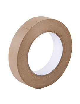 Looneng Water Activated Gummed Kraft Paper Tape   24mm Width X 54.7 Yd Length   Stretching Paper, Tamper Evident by Looneng