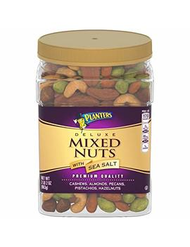 Planters Deluxe Salted Mixed Nuts (34oz Canister) by Planters
