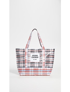 Plaid Medium Tote Bag by Opening Ceremony