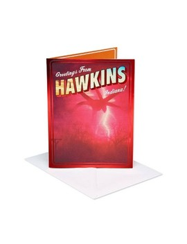 Stranger Things Hawkins Birthday Greeting Card With Foil by American Greetings