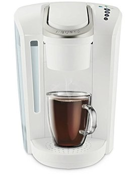 Keurig K Select Single Serve K Cup Pod Coffee Maker, With Strength Control And Hot Water On Demand, Matte White by Keurig