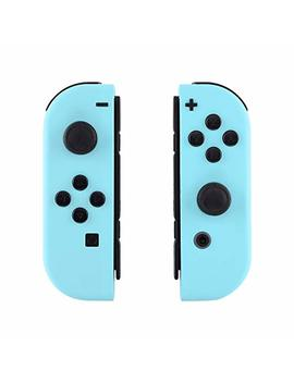 E Xtreme Rate Soft Touch Grip Heaven Blue Joycon Handheld Controller Housing With Full Set Buttons, Diy Replacement Shell Case For Nintendo Switch Joy Con – Console Shell Not Included by E Xtreme Rate