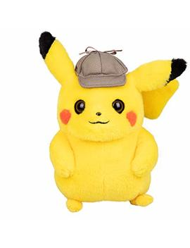 """Pokémon Detective Pikachu Plush Stuffed Animal Toy   8""""   Ages 2+ by Wicked Cool Toys"""