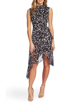 Botanical Charm Cascading Ruffle Sleeveless Dress by Cece