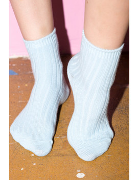 Blue Knit Socks by Brandy Melville
