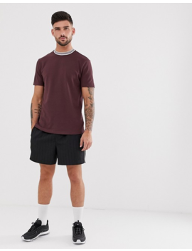 River Island T Shirt In Red With Taping by River Island
