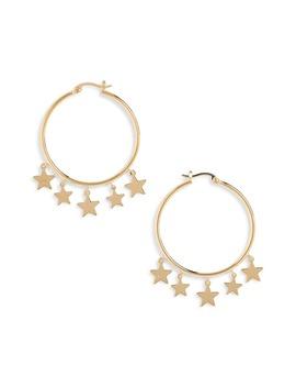 Star Dangle Hoop Earrings by Sterling Forever