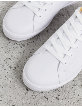 Fred Perry Baseline Leather Sneakers In White by Fred Perry
