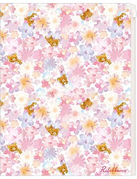 San X Rilakkuma Clear Plastic Folder 6 Pocket & Zipper File A4 Size Fy18601 by Rilakkuma
