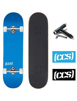 Ccs Skateboard Complete   Color Logo And Natural Wood   Fully Assembled   Includes Skateboard Tool And Stickers by Ccs