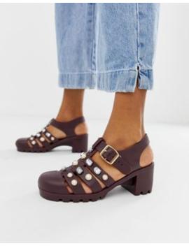 Asos Design Fascinate Embellished Heeled Jelly Sandals by Asos Design