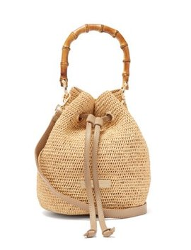 Savannah Bay Mini Bamboo Handle Raffia Bag by Heidi Klein
