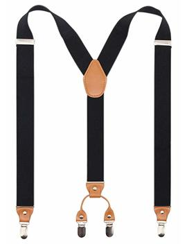 Men's Y Back 4 Metal Clip Elastic Wide Suspenders Perfect For Both Casual&Amp;Formal by Timiot