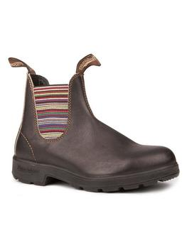 Blundstone 1409   Original Stout Brown Striped Elastic by Blundstone