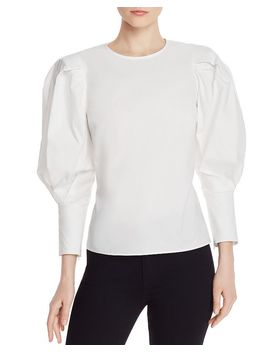 Emile Balloon Sleeved Top by Rebecca Minkoff