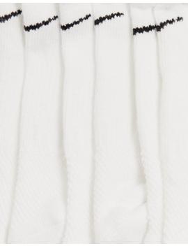 Nike White 6 Pack Sneaker Socks by Nike