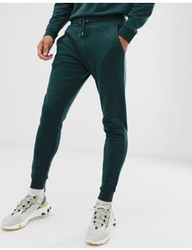 Asos Design Tracksuit Sweatshirt/Skinny Sweatpants In Green by Asos Design