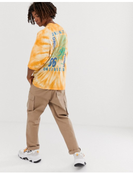 Asos Design Oversized T Shirt With Heavy Tie Dye And Large Back Print by Asos Design