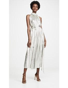 Oyster Metallic Dress by A.W.A.K.E.