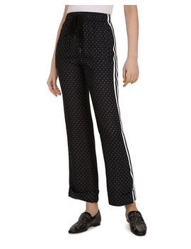 Graphic Floral Print Wide Leg Pants by The Kooples