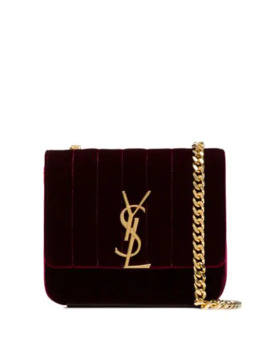 Small Vicky Velvet Cross Body Bag by Saint Laurent
