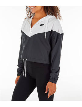 Women's Nike Sportswear Heritage Crop Windrunner Jacket by Nike
